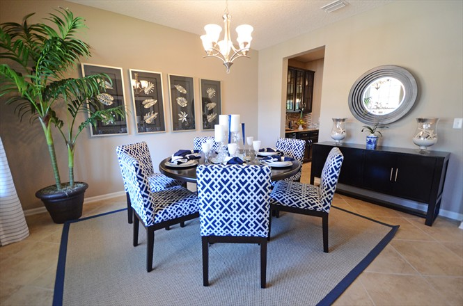 Richmond american model home furniture home box ideas for Dining room tables jacksonville nc