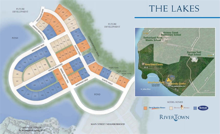 Rivertown The Lakes Home SitePlan