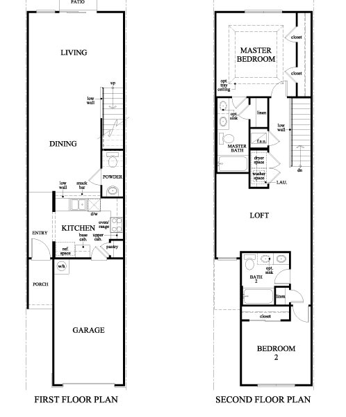 Villages of bartram springs model 1445 townhomes townhomes by for The villages house plans