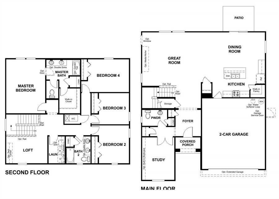 Silverthorn model magnolia single family home home by for American home builders floor plans