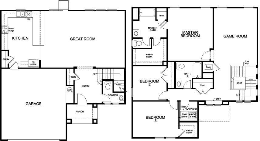 Ambridge cove model floor plan 2194 single family home by for Single family home blueprints
